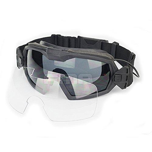 - ATAIRSOFT Fan Version Cooler Airsoft Glass Regulator Goggles Ski Snowboard Bike Sports (Black)