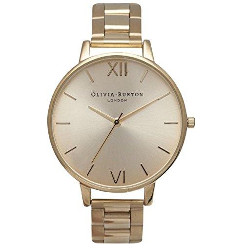 Olivia Burton Reloj analógico Quartz Acero Inoxidable Oro ob13bl08bs