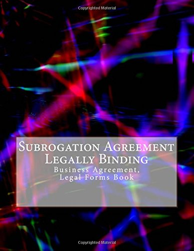 Subrogation Agreement Legally Binding Business Agreement Legal