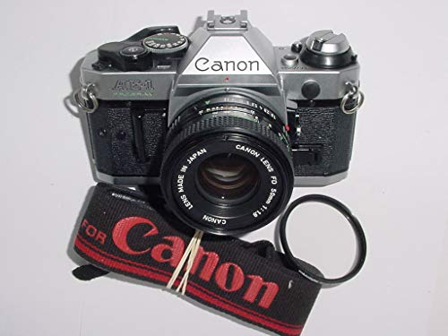 Vintage Canon AE-1 Program 35mm SLR Camera with 50mm 1:1.8 Lens