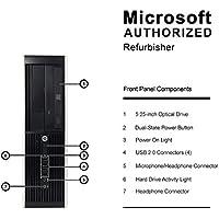 HP Elite 8300 Small Form Business Desktop Computer PC(Intel Core i7-3770 3.4GB Quad Core,16GB DDR3,120GB SSD+3TB,DVD,Windows 10 Professional 64)(Certified Refurbished)-Support-English/Spanish