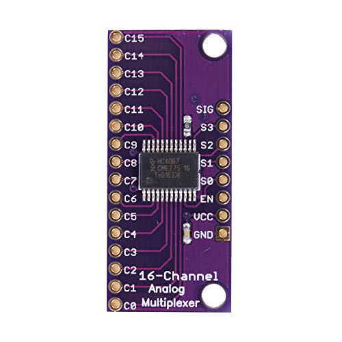 (SODIAL(R) CD74HC4067 CMOS 16 CH Analog Digital MUX Breakout Board for Arduino)
