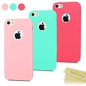 009b85858ea 3x Funda iPhone SE, Carcasa iPhone 5S Silicona Gel: Amazon.es: Electrónica