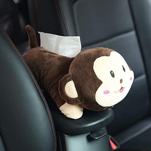XuBa Car Hanging Seat Back Type Tissue Box Car Shade Block Cartoon Cute Interior Auto Accessories for Car Decoration Big Face Monkey