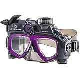 Liquid Image 305P XSC-Xtreme Sport Cams LIC-Hydra Series 12MP Mask Waterproof Video Camera with 1-Inch LCD (Black/Purple)