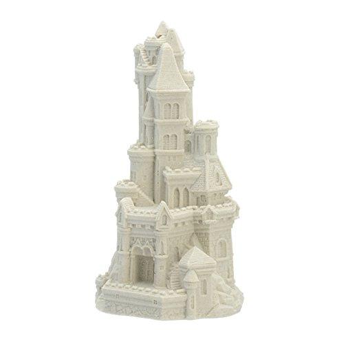 "Sand-Deco Sand Castle Figurine 715 8.5"" Tall Collectible Beach Wedding Decor (White)"