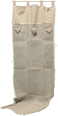 Cortina Pérgola Marinette Corazones cm 140 x 290 – Country Shabby ...