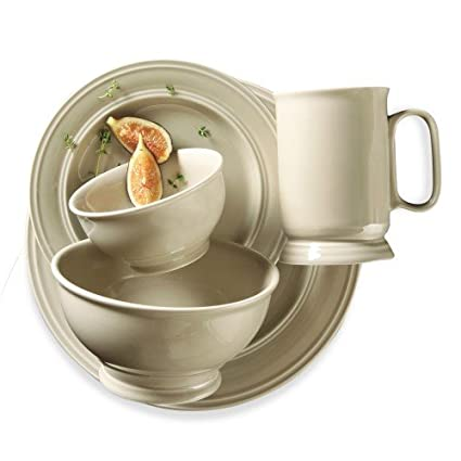 Elite Couture By Gibson - Essex Falls 20 Piece Dinnerware Set (Parchment)  sc 1 st  Amazon.com : gibson 20 piece dinnerware set - pezcame.com