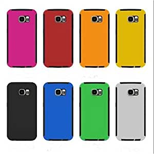HJZ Two-In-One Ultra Thin Full Body Cases Back Cover for Samsung Galaxy S6 (Assorted Colors) , Red