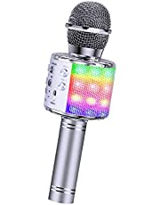 BlueFire 4 in 1 Karaoke Bluetooth Handheld Wireless Microphone Portable Speaker Machine Home KTV Player with Record Function for Android & iOS Devices