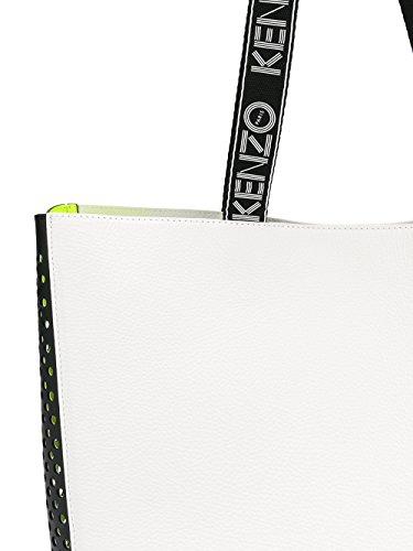 Kenzo Borsa Shopping Donna F762SA902L0101 Poliuretano Bianco