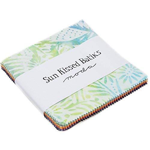 Moda Fabric Batik - Sun Kissed Batiks Charm Pack by Moda Classic; 42-5