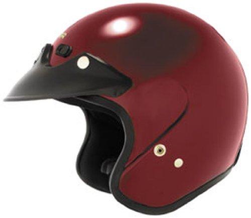 Cyber Helmets U-6 Metal Flake Helmet, Distinct Name: Red, Gender: Mens/Unisex, Helmet Category: Street, Helmet Type: Open-face Helmets, Primary Color: Red, Size: XL ()