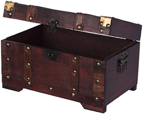 Baúl HS 130524 baúl, Cofre baúl, Cofre del Tesoro, madera, caja ...