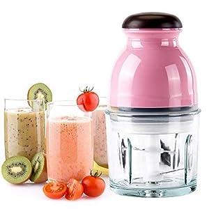 SAYSHA Food Processor Blenders Mixers Grinder Chopper/Capsule Cutter, (Pink, 220V)
