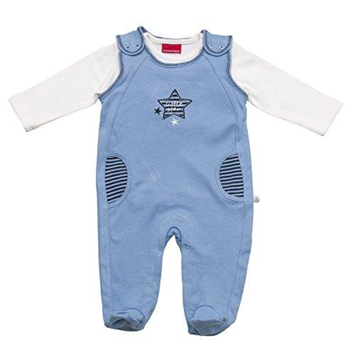 SALT AND PEPPER Baby-Jungen Strampler NB Playsuit Little Star Stern, Blau (Baby Blue 406), 56