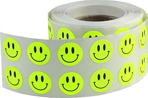 Silberne Funkelnde Glückliches Gesicht Aufkleber, 13 mm 1/2 Zoll Glänzende Holografische Kreis Etiketten 1000 Packung