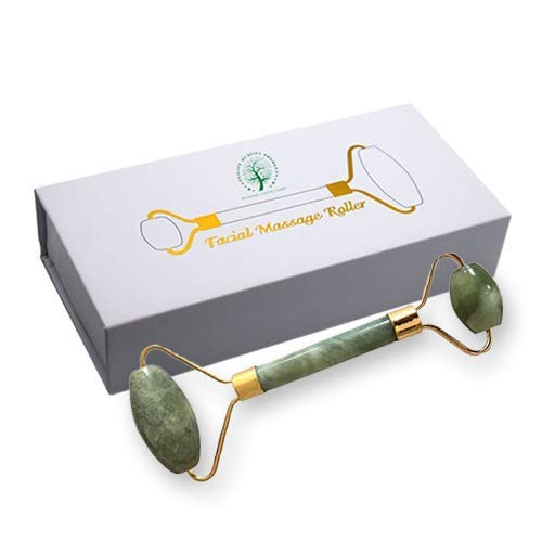 Envilife quality products Stone Anti Aging Jade Roller Massager Green