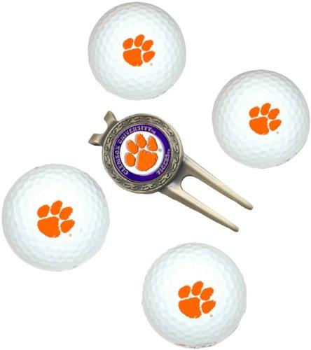NCAA Clemson Tigers 4 Golf Ball And Divot Tool (Clemson University Golf)