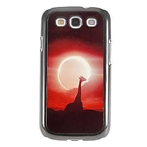ZXM-Puesta de sol y modelo de la jirafa lisa del espejo de nuevo caso duro con la película de alta definición de pantalla 3 piezas para Samsung S3 I9300