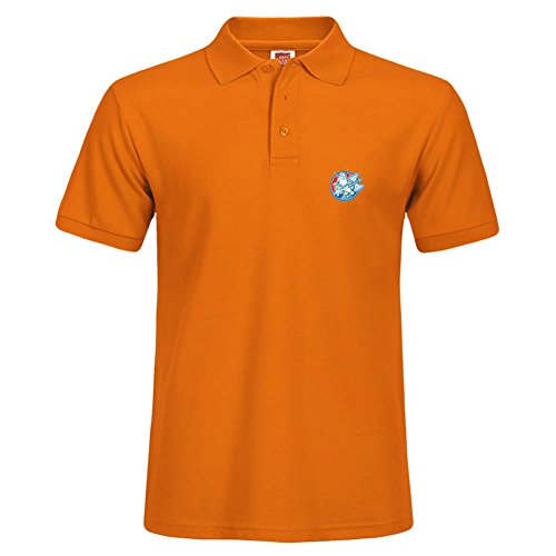 Slim Fit Men Large Polo Shirt Short Sleeve Orange For Summer Wear Viking Raider Barbarian Warrior Axe Circle Retro Casual Shirt With - Allen Polo Outlet