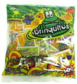 Brinquitos Original Sweet n'Sour Powder with Chili 100 Pieces Sealed