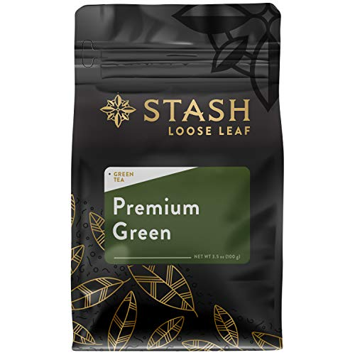 Stash Tea Premium Green Loose Leaf Tea 3.5 Ounce Pouch Loose Leaf Premium Green Tea for Use with Tea Infusers Tea Strainers or Teapots, Drink Hot or Iced, Sweetened or Plain