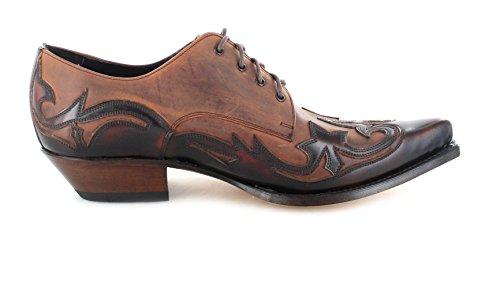 nbsp;con 10066 Zapatos Boots Sendra cordones Fuchsia Western 7004 8IfPx7