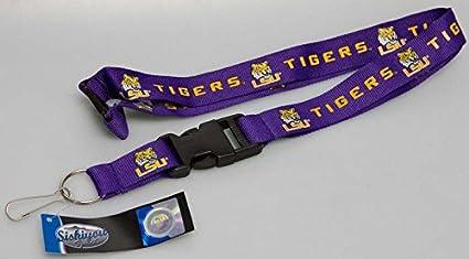 Louisiana State Tigers NCAA Detachable Key Chain ID Holder Lanyard New LSU