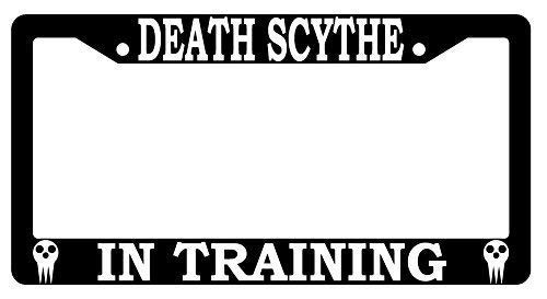 Death Scythe in Training Soul Eater Custom License Plate Frame, Aluminum Metal, Personalized Humor Car Tag Frame, Novelty Car Tag Holder, 2 Holes and Screws