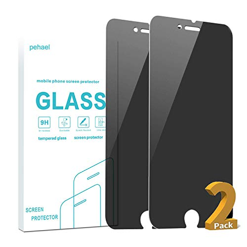 pehael Privacy Screen Protector for iPhone 7/8, 4.7 inch 9H Hardness Anty- Spy Tempered Glass, 3D Touch, Easy Install (2 Packs)