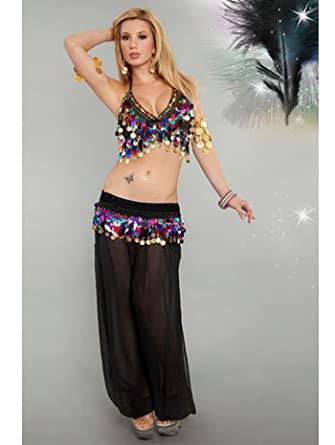 Amazon com: Sexy Mardi Gras Belly Dancer Costume - MEDIUM