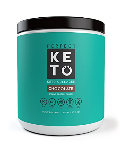 Keto Protein Powder - Grass-fed Collagen and MCT Oil Low Carb Protein Powder - Perfect For Ketosis and Ketogenic Diets - Chocolate Flavor