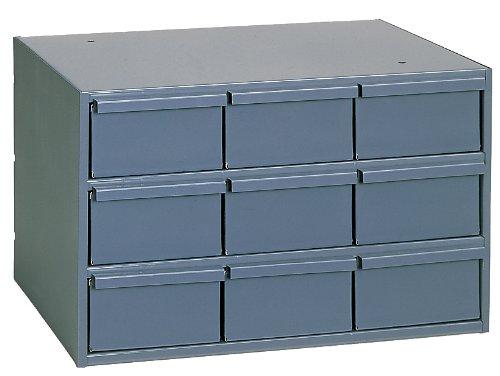 Durham 004-95 Gray Cold Rolled Steel Vertical Storage Cabinet, 17-1/4'' Width x 10-7/8'' Height x 11-5/8'' Depth, 9 Drawer by Durham
