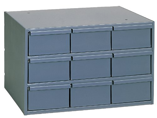 Durham 004-95 Gray Cold Rolled Steel Vertical Storage Cabinet, 17-1/4'' Width x 10-7/8'' Height x 11-5/8'' Depth, 9 Drawer
