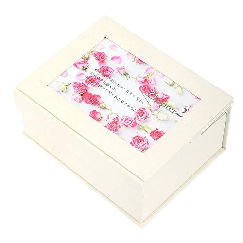 通りサラミ塩辛い石鹸の花のギフト用の箱、石鹸の花のギフト用の箱の女の子のお母さんの誕生日のクリスマスの結婚式のギフトの写真フレームが付いている花の石鹸(#1)