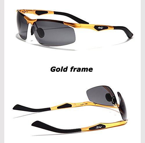 negro aluminio sol TAC gafas hombres gafas de de gafas magnesio de UV400 bastidor TIANLIANG04 coche Oro polarizadas polarizadas de piloto del de Los sol qB0xHP