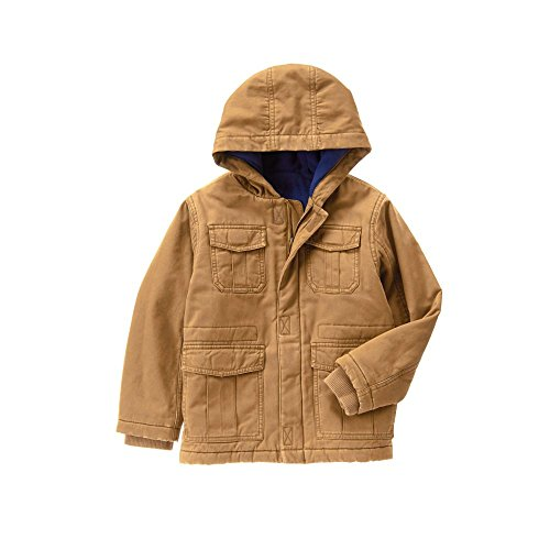 Crazy 8 Big Boys' Hooded Jacket, Downtown Brown, M