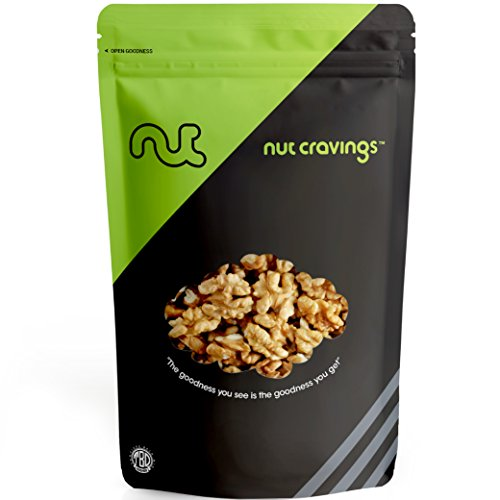 Nut Cravings California Raw Walnuts – 100% All Natural Shelled Halves and Pieces – 64 Ounce (California Chocolate Brownie)