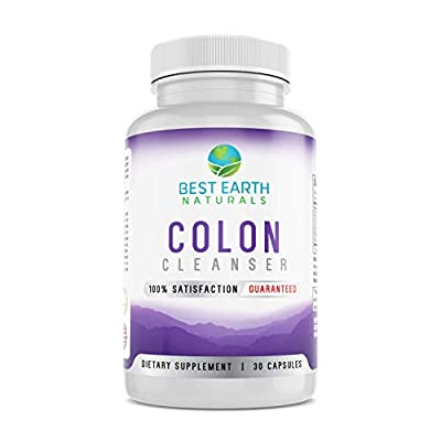 Colon Cleanse - Natural Cleansing Formula Intended to Support a Healthy Digestive System and Metabolism Made with Senna Leaves, Cascara Sagrada Bark, Black Walnut Hulls, Bentonite Clay & Acai Fruit
