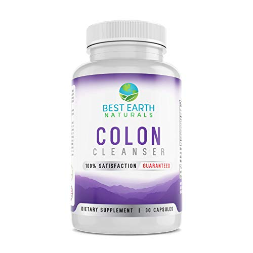 Colon Cleanser by Best Earth Naturals, Natural Cleansing Laxative to Cleanse, Detox and Support Healthy Intestinal and Digestive System with Senna, Cascara, Black Walnut, Bentonite and More ()