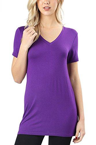 Riah Fashion Women's Soft V-Neck Tunic   S-XL (X-Large, ()