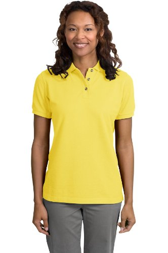 Port Authority Ladies Pique Knit Sport Shirt, 3XL, Yellow