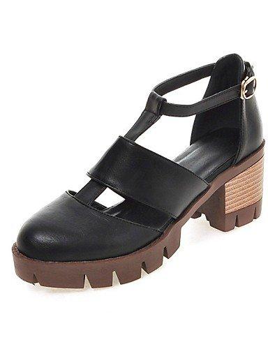 LFNLYX Zapatos de mujer-Tacón Robusto-Tacones / Comfort / Innovador / Botas a la Moda / Zapatos y Bolsos a Juego / Zapatillas-Sandalias / Black