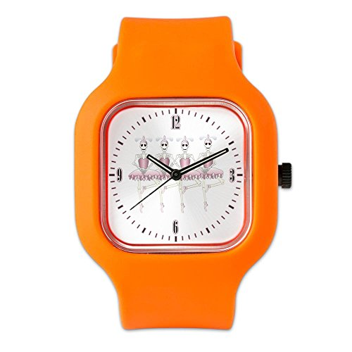 Orange Fashion Sport Watch Dancing Ballarina Skeletons En Pointe