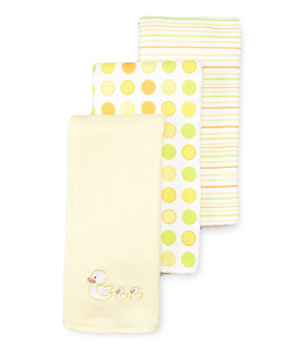 - Spasilk Unisex-Baby Newborn 3 Pack 100% Cotton Burp Cloths, Yellow Duck, 12 Inchx17 Inch