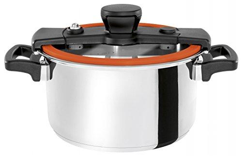 Wisconsin Aluminum S4O The Sizzle 4 Liter Pressure Cooker44; Orange