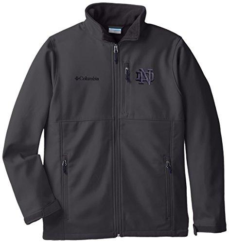 NCAA Notre Dame Fighting Irish Collegiate Ascender Softshell Jacket, Grill, Medium