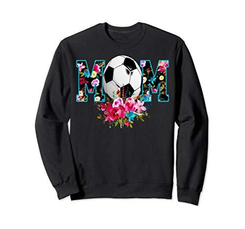 (Soccer Mom Floral Print Sweatshirt - Soccer Gifts For Moms )