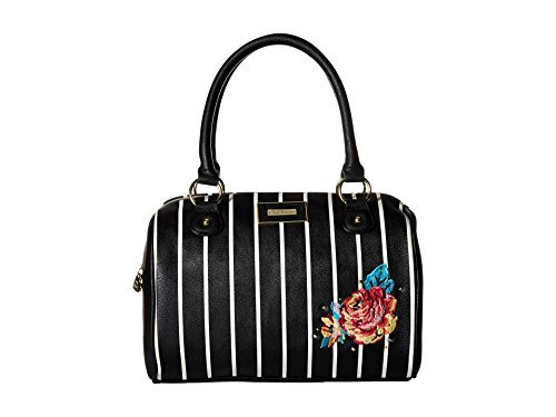 Betsey Johnson Women's Satchel Stripe One Size (Johnson Stripe Betsey)